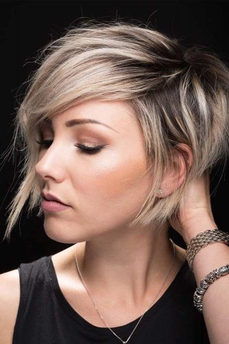 Side Swept Texturized Haircuts picture1
