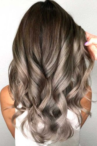 Silver and White Highlighted Hair picture3