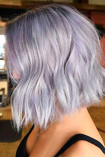 Silvery Purple Waves #stylishhairstyles #purplehair