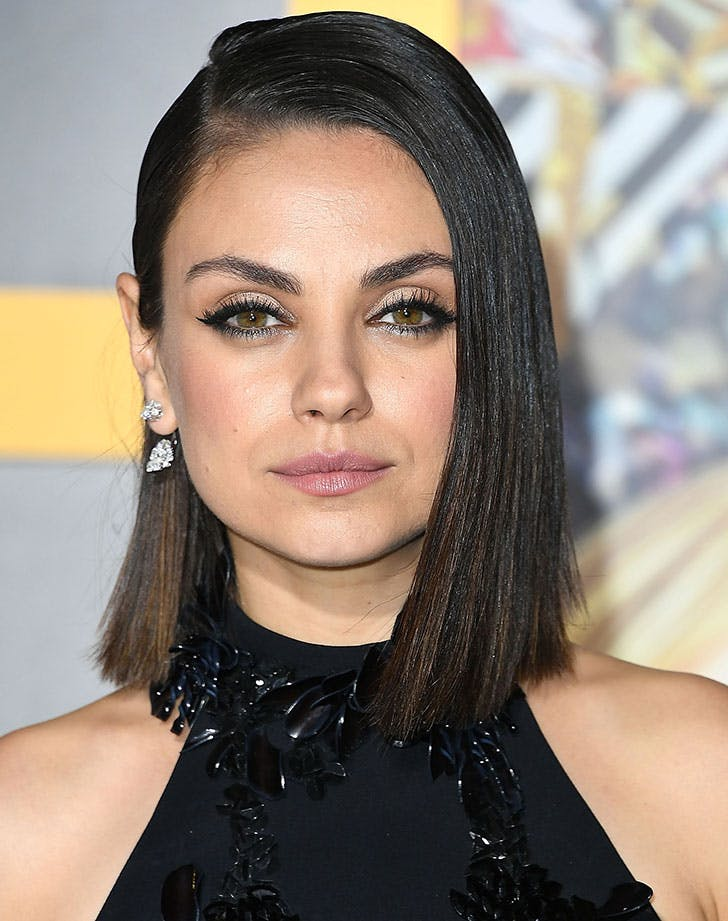 smooth lob haircut mila kunis6