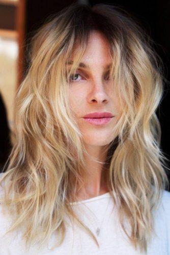 Soft Wavy Blonde Shag #mediumhair #wavyhair #shaggy