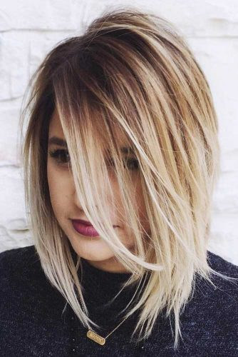 Straight & Blonde Long Bob Haircut #mediumhair #bob