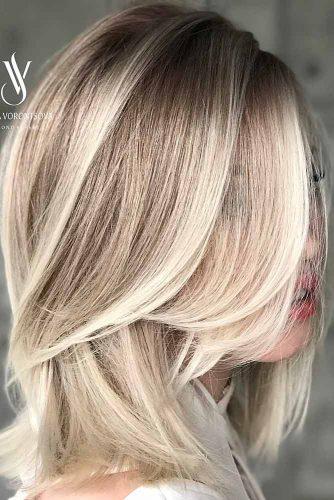 Straight Hairstyles for Shoulder Hair Blonde Balayage #shoulderlengthhair #longbob #hairstyles #straighthair #blondebalayage