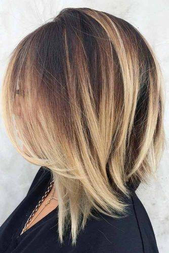 Straight Medium Length Haircut #haircutstyles #haircuts #mediumlength