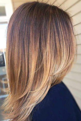 Straight Medium Length Layered Hair #mediumlengthhairstyles #mediumhair #layeredhair #hairstyles