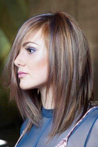 Straight Side Parted Haircuts #mediumlengthhaircuts #mediumhair #haircuts #longbob