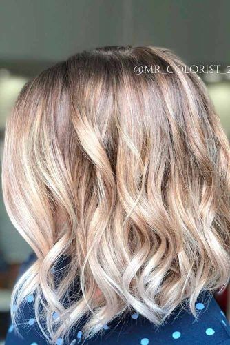 Stylish Ash Blonde Wavy Lob #wavyhair #blondehair
