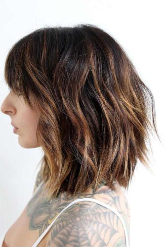 Stylish Ideas for Medium Hair with Bangs picture 5