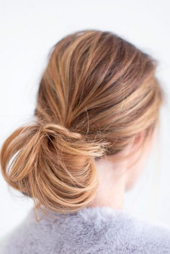 Stylish Low Buns and Top Knots picture 5