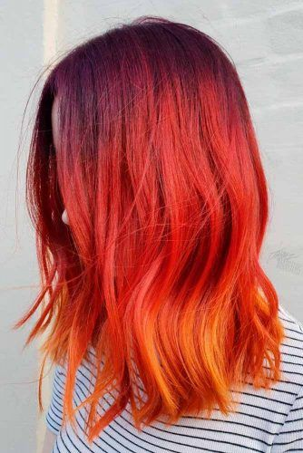 Sunset Ombre Hair #ombrehair #colorfulhair