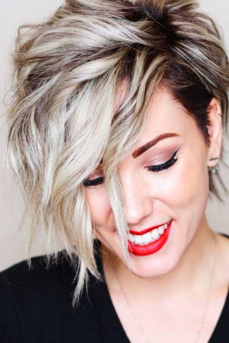 Super Short Bob Hairstyles with Asymmetric Picture 1