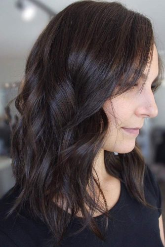 Textured Brunette Hair