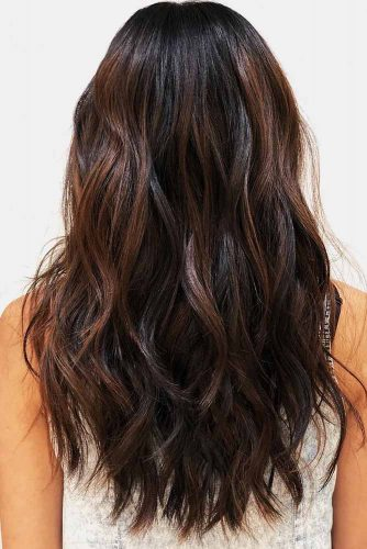 Texturized Loose Wavy Long Shag #longhair #wavyhair #layeredhair #shaggy