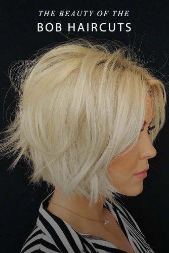 The Beauty Of The Bob #shaggyhair #blondehair #stylishhaircuts