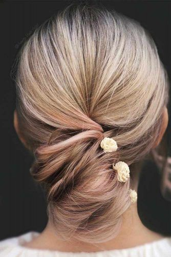 Twisted Updo Hairstyle For Valentines Day #twistedupdo #hairaccessory