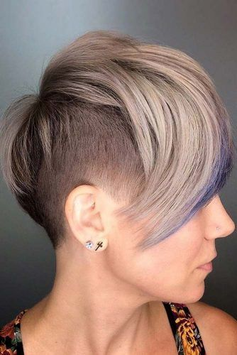 Undercut Pixie With Long Bang #undercutpixie #pixiehaircut #undercut #haircuts