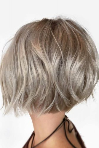 Very Short Bob Haircut #shortbobhairstyles #bobhairstyles #hairstyles #haircuts #silvercolor