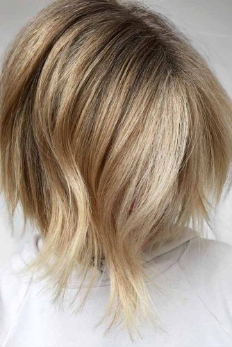 Voluminous Balayage Highlights #shortombrehair #balayage #shorthair #bobhaircut #blondehair