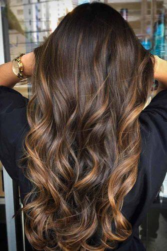 Warm Tones on Dark Brown Hair picture2