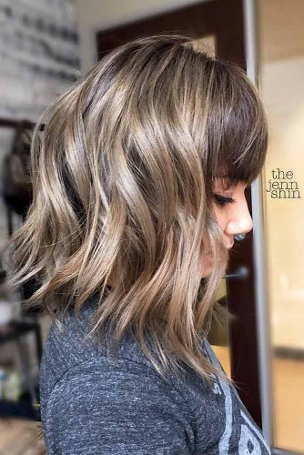 New Ways To Style Your Long Bob Haircut With Bangs Hairs London