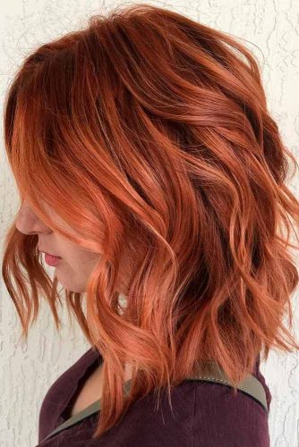 Wavy Copper Streaks