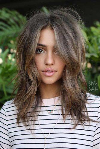 Wavy Middle Parted Haircut #layeredhaircuts #layeredhair #haircuts