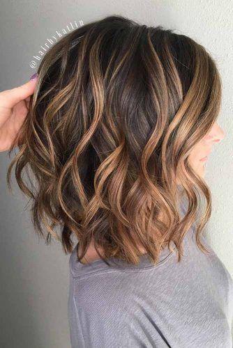 Wavy Middle Parted Haircuts #mediumlengthhaircuts #mediumhair #haircuts #longbob