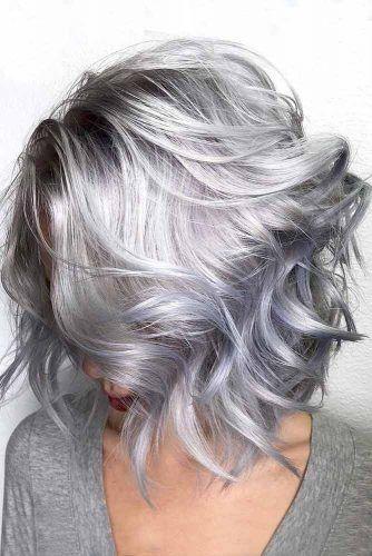 Wavy Side Parted Haircut #layeredhaircuts #layeredhair #haircuts