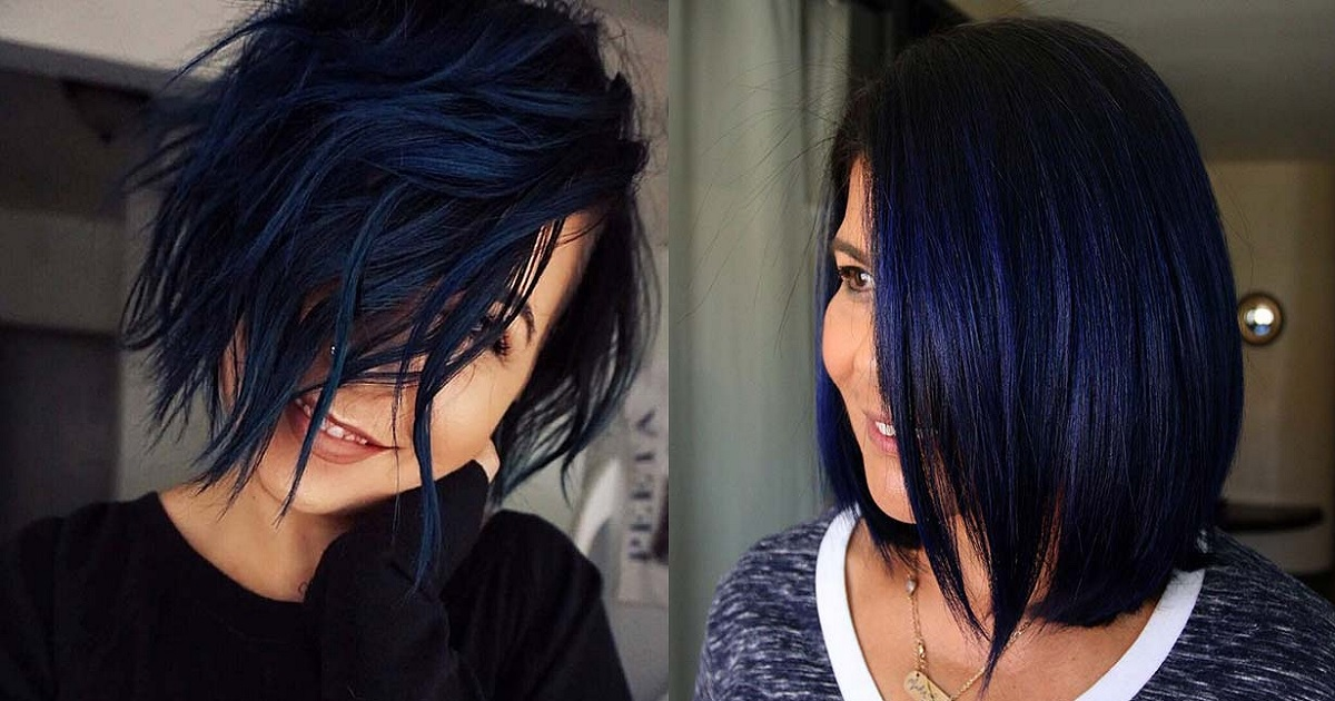 23 Beautiful Blue Black Hair Color Ideas To Copy