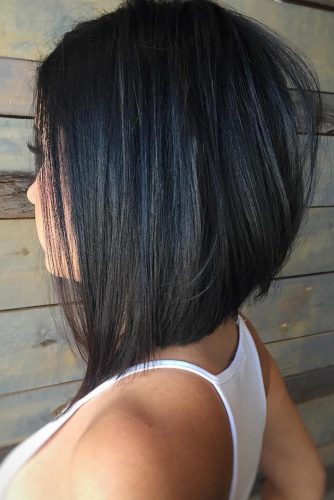 Angled Long Bob Hairstyle #angledbob #longbob