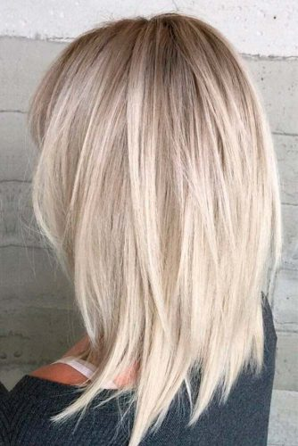 Grunge Haircut #blondecolor #grungecolor