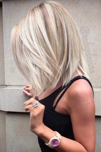Medium Blonde Bob With Longer Sides #blondebob