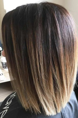 Medium Length Style with Layered Edges #layerededges
