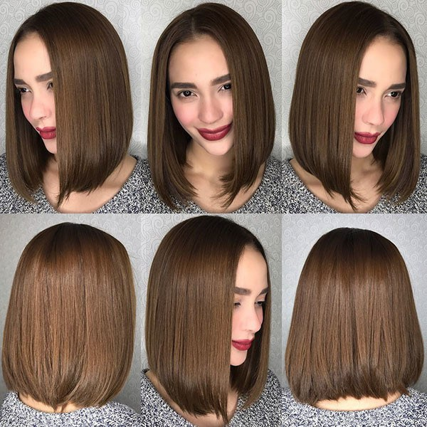 Brown-Bob-Hairstyle-2019 Best New Bob Hairstyles 2019