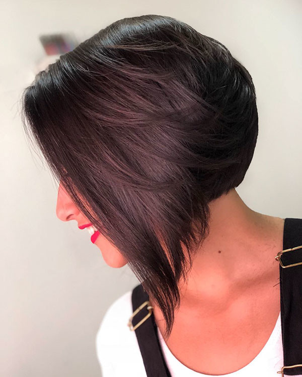 Layered-Bob-Haircut Best New Bob Hairstyles 2019