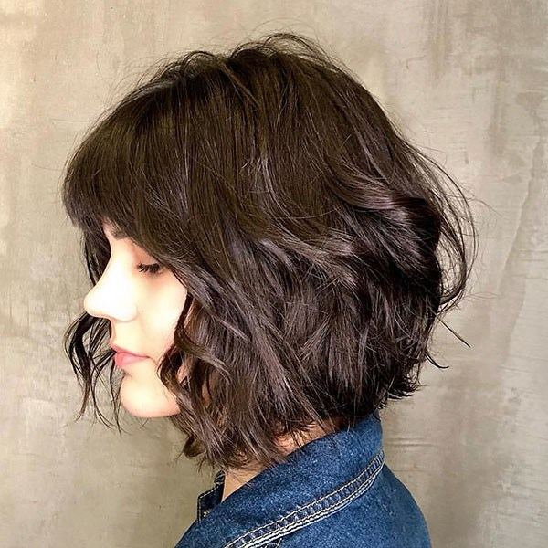 Short-Bob-Hairstyle-for-Thick-Hair Best New Bob Hairstyles 2019