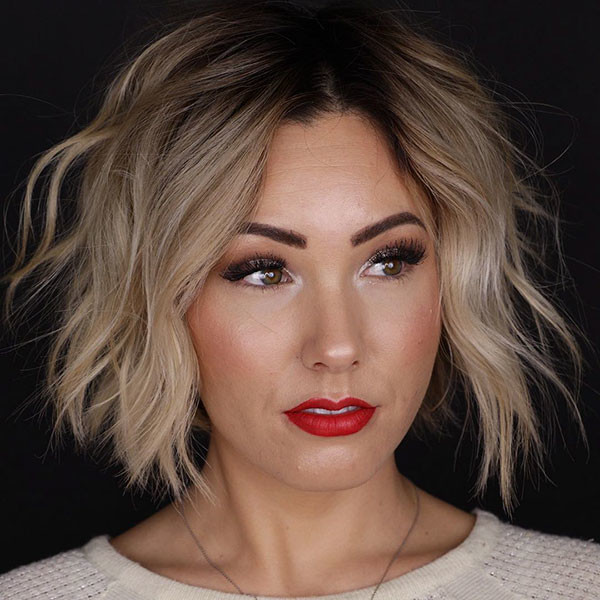 Wavy-Bob-Hairstyle Best New Bob Hairstyles 2019