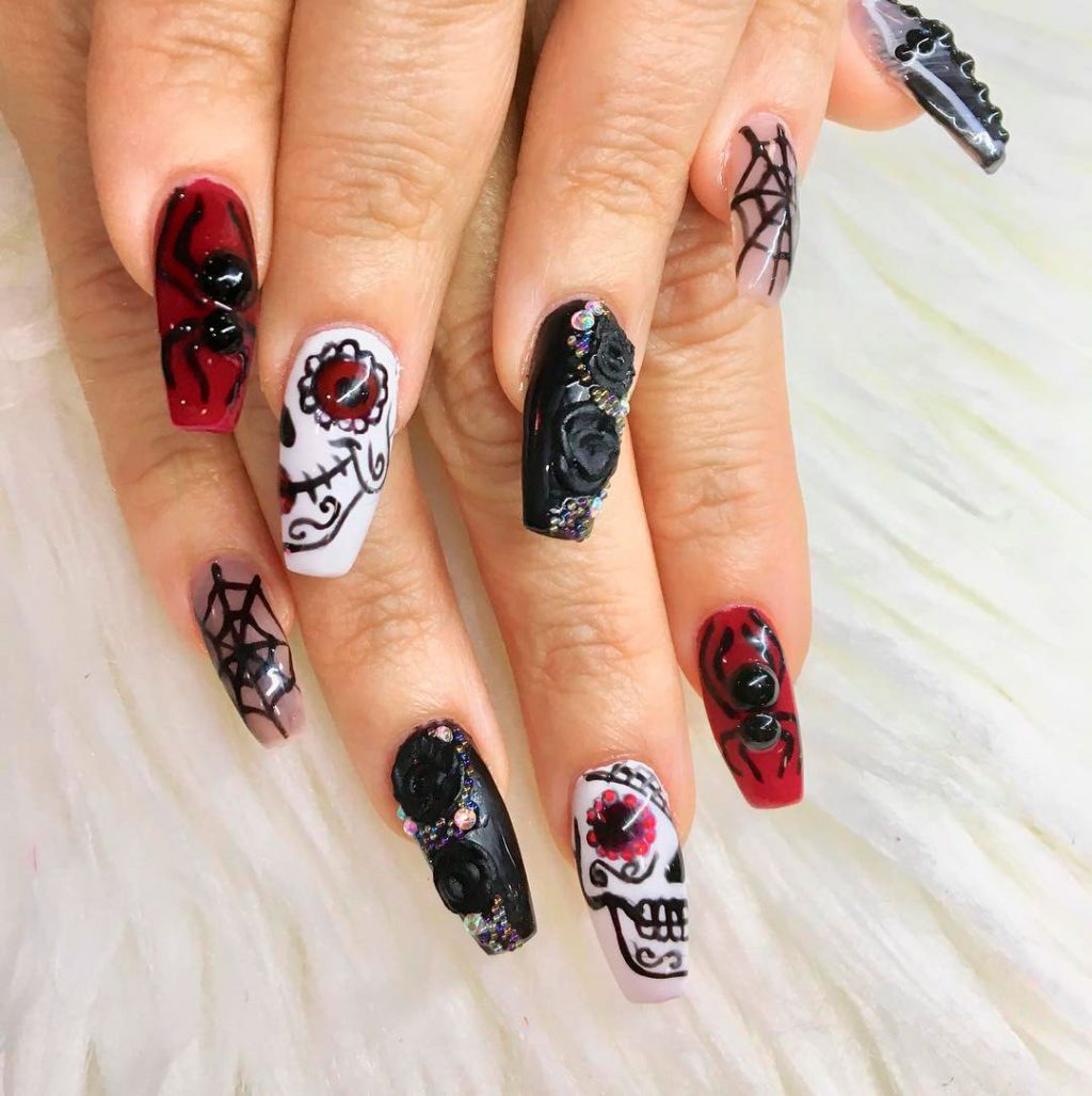 Amazing Miscellaneous Halloween Press On Nails