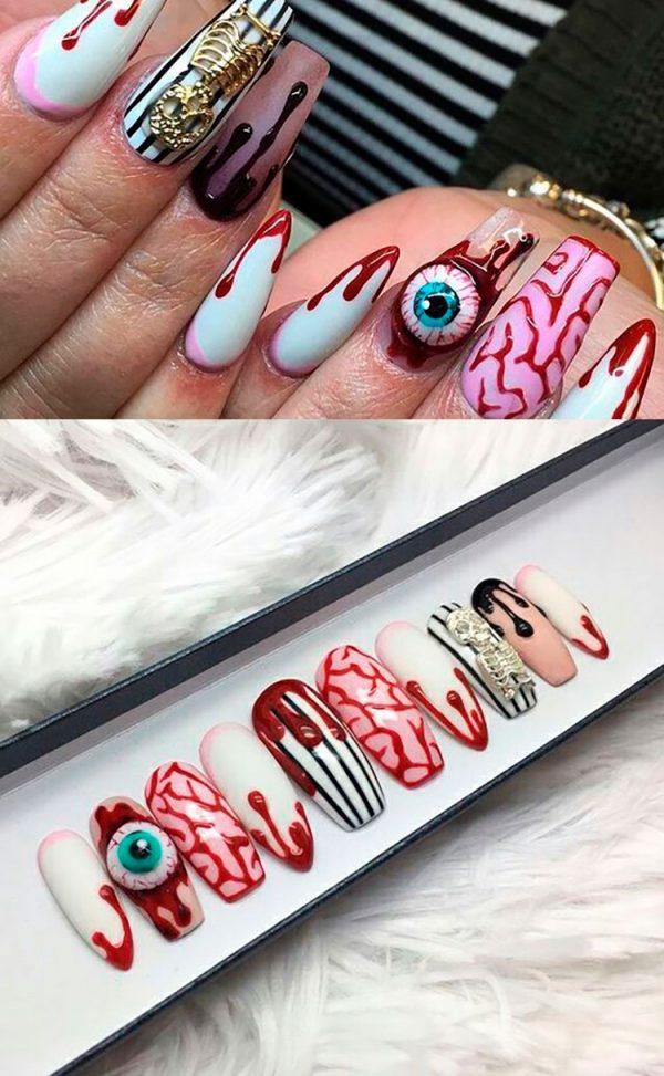 Creep Halloween Press On Nails!
