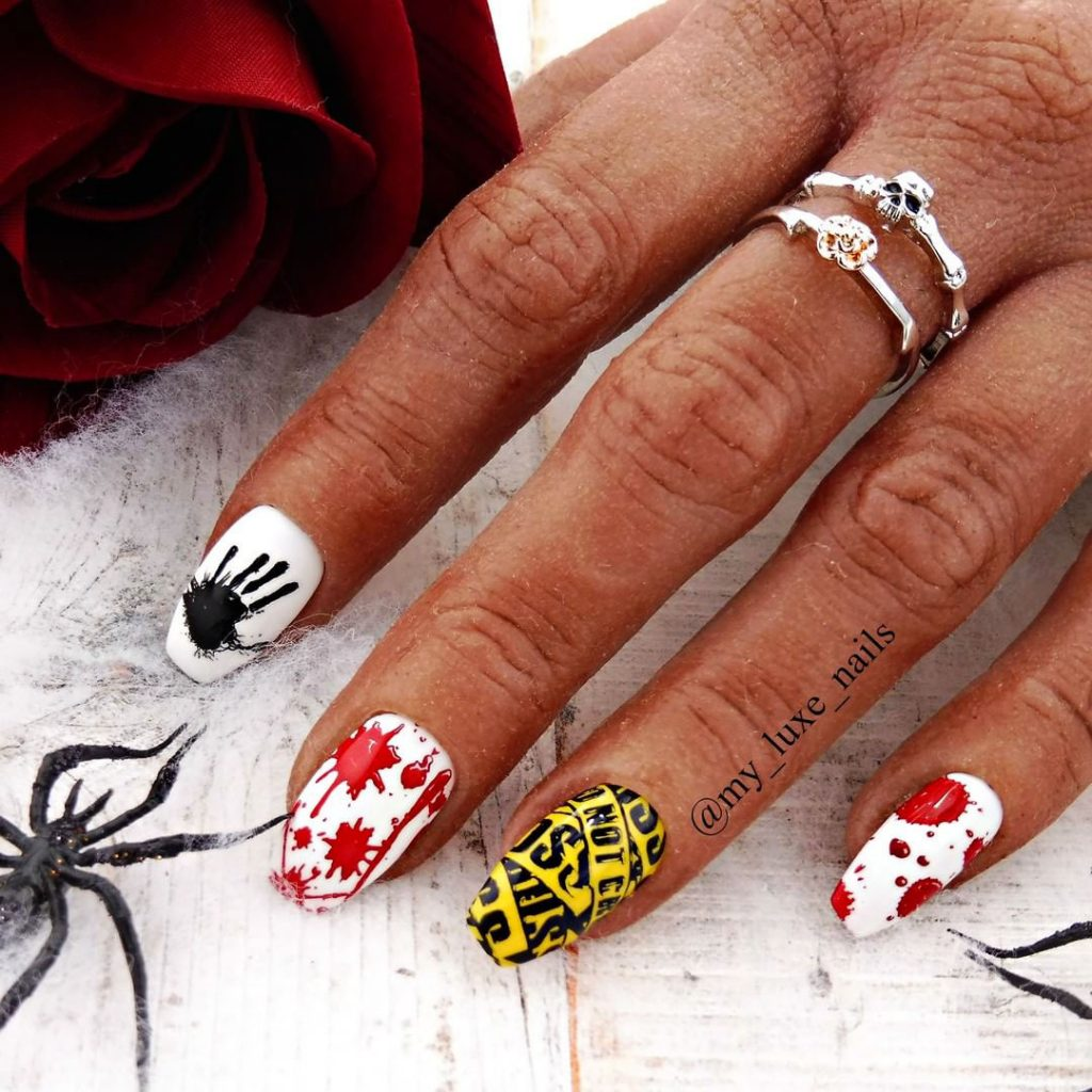Cute and Creepy Halloween Press On Nails!