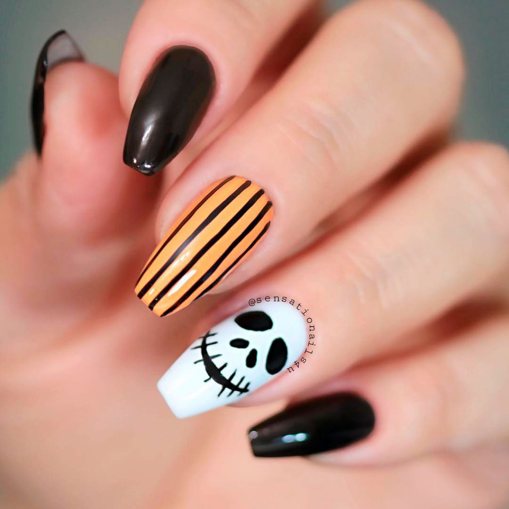 Perfect Coffin Shaped Halloween Nails