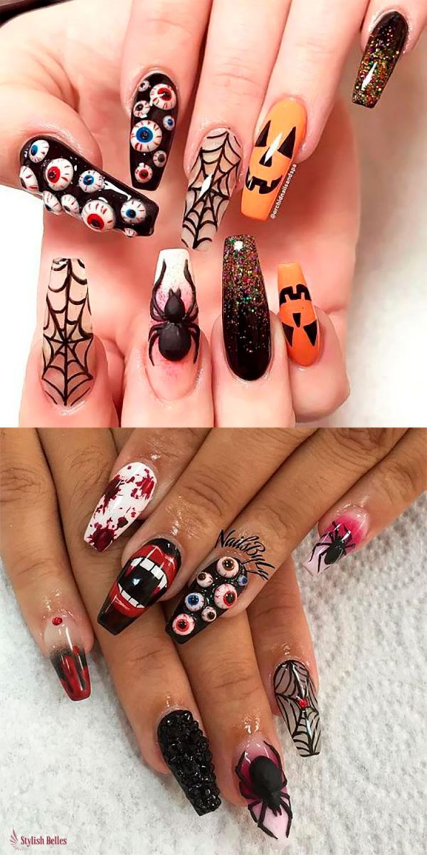 Spooky Halloween Press On Nails!