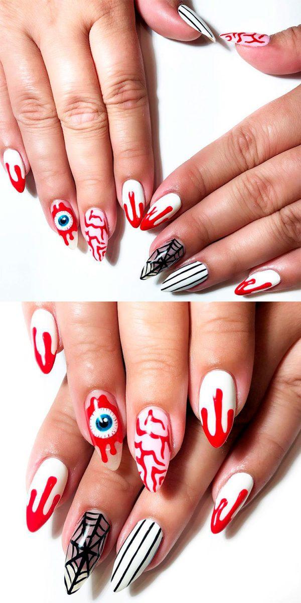 Stunning Halloween Bloody Press On Nails!