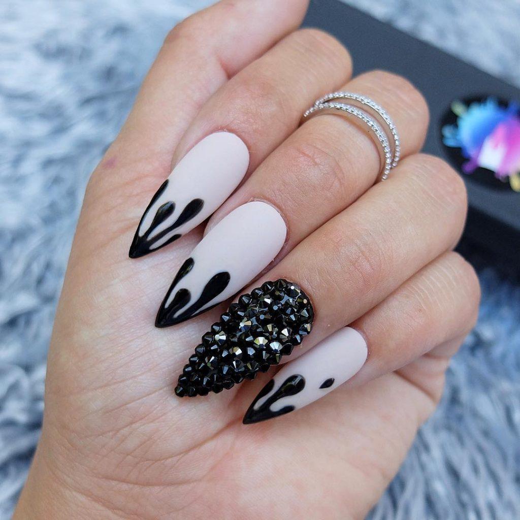 Stunning Stiletto Halloween Press On Nails!