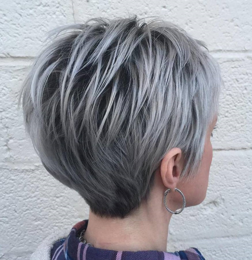Long-Silver-Pixie-With-Black Roots