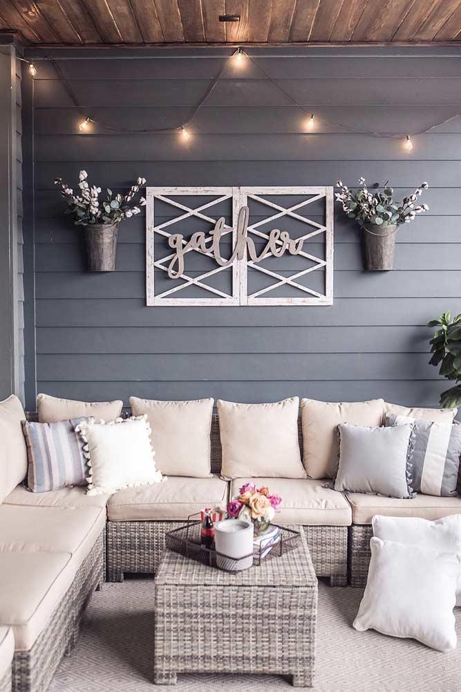 Cozy Outdoor Décor Idea #cozy