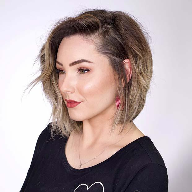 Cute Layered Bob with Highlights