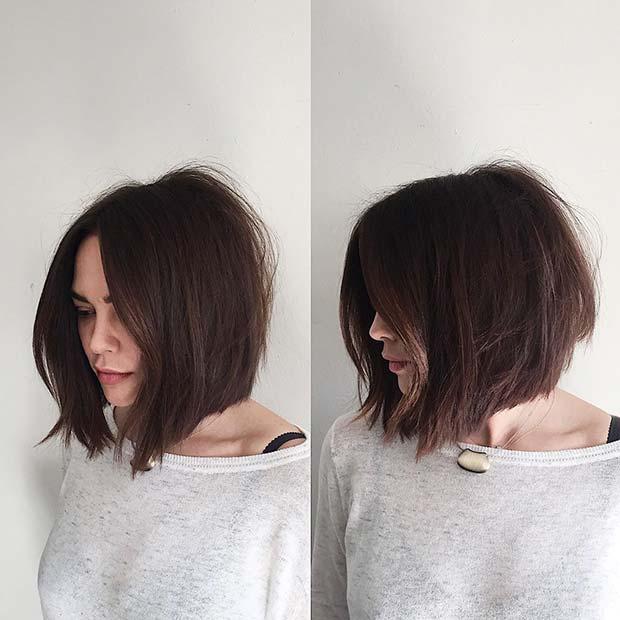 Inverted Layered Bob Haircut