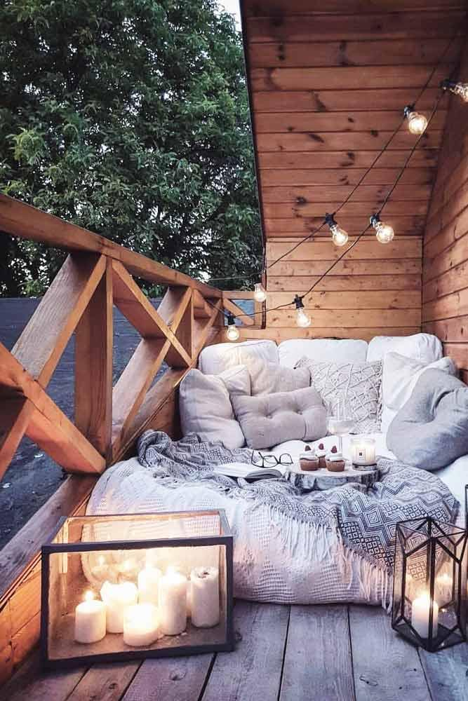 Outdoor Decoration Idea With String Lights #backyard