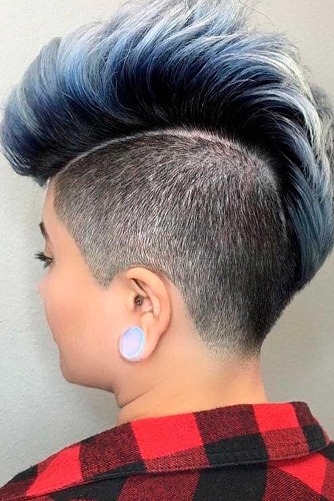 Spiky Shaved Mohawk #mohawkhair #colorfulhair